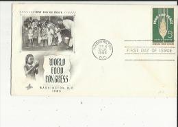 Enveloppe  Timbree  De World Food Congresss  Washington D C En 1963  Voir Scan - 1961-1970