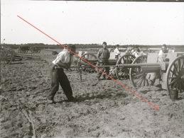 Plaque De Verre Militaire Artillerie Canon Exercice Manoeuvre Tir 1901 - Guerre, Militaire