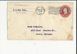Enveloppe  Timbree  Entier Postaux De P O  Box 206  _Adressé A Niuk Radenich A Butte-Montana En 1914 Voir Scan - 1a. 1918-1940 Used