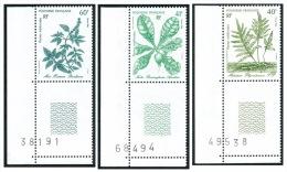 POLYNESIE 1986 - Yv. 268 à 270 ** SUP Cdf Num  Faciale= 1,42 EUR - Plantes Médicinales (3 Val.) ..Réf.POL21955 - Ungebraucht