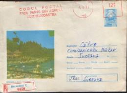Romania - Postal Stationery Envelope  1976 Circulated - Sovata - The Beach - Postal Stationery