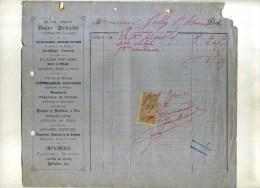 - FRANCE 33 . FACTURE MAISON ARMAND . HENRI DURAND  QUINCALLERIE . 1897 . TIMBREE . - 1800 – 1899