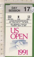 PO9121C# BIGLIETTO US OPEN TENNIS 1991 - NEW YORK - Tennis