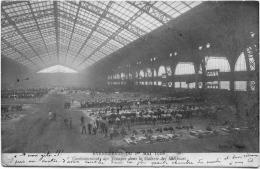 Paris Evénements 1er Mai 1906 Cantonnement Troupes Dans Galerie Machines Structure Métallique Architecture Militaria - Manifestations