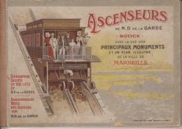 13 MARSEILLE   NOTICE DES ASCENSEURS DE NOTRE DAME DE LA GARDE - Notre-Dame De La Garde, Ascenseur