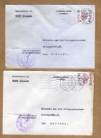2 Enveloppes Brief Cover Elström Gemeentebestuur Van Zelzate - Belgien