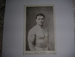 CADINE Ernest Champion Du Monde De Force En 1920 Et Recordmann Du Monde - Lutte