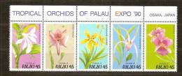 Palau 1990  Yvertn° 320-24 *** MNH  Cote 8,75 Euro  Flore Bloemen Orchidées Flowers - Palau