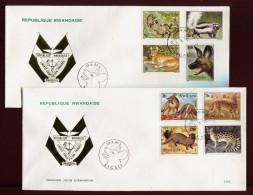RUANDA,  FDC, 1981, ANIMALS - Rwanda