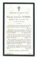 GENEALOGIE.. AVIS De DECES 1891 De Madame Constant DUMERIL - Images Religieuses