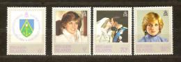 Pitcairn Islands 1982 Yvertn° 211-14 *** MNH Cote 3,50 Euro Lady Diana - Timbres
