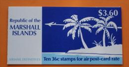 Marshall Islands #C25b Booklet Comp Mnh Cv $8.75 Airplanes - Marshall