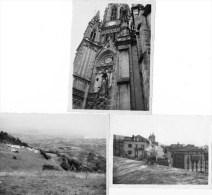 411Cu    Espagne San Sebastian Lot De 3 Photos Camping église Ville Pigeon En 1961 - Spanien