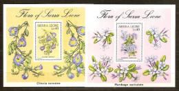 Sierra Leone 1986 Yvertn° Bloc 48-49 *** MNH Cote 80 FF Flore - Sierra Leone (1961-...)