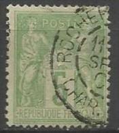 France - Type Sage - N°106 - Obl. Cachet à Date ROCHEFORT Carente-Maritime - 1876-1898 Sage (Type II)