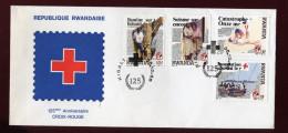 RUANDA,  FDC, 1988, CROIX-ROUGE - Rwanda