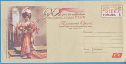 Music Hariclea Darclee Tosca Giacomo Puccini ROMANIA  Stationery Cover 2011 - Musik