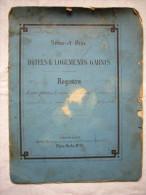 Registre 1887 Hôtels Et Logements Garnis Tenu Par Mr Citerne Marchand De Vins à Choisy Le Roi - Manuscritos