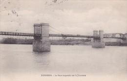 16-112 Pont Suspendu Sur La Garonne - Tonneins