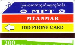 MYANMAR BIRMANIE IDD PHONECARD URMET POUPEE 200U NEUVE MINT