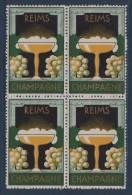 Reims - Champagne - (bloc De 4) - Commemorative Labels