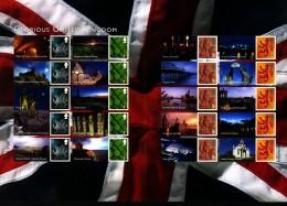 GREAT BRITAIN - 2008  GLORIOUS UNITED KINGDOM  GENERIC SMILERS SHEET   PERFECT CONDITION - Fogli Completi