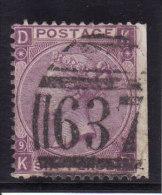 GB - 6p - Yvert N° 34 (Michel N° 30) Planche 9 - 1867 / 1869 - Oblitérés