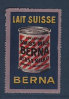 Vignette - Lait Suisse Berna - Sans Gomme - Commemorative Labels