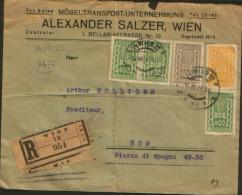 1923 1/1 WIEN 12 To ROMA - 1918-1945 1. Republik