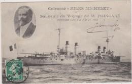 Cpa,1913,toulon,souvenir, Du  Voyage De M Pincaré,cuirassé,le Jules Michelet ,var,bateau - Toulon