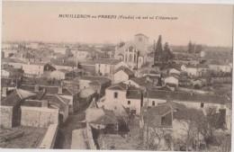 Cpa,vendée,mouilleron,en Vendée,oo Est Né Clémenceau,,village Tranquille ,belle église,85 - Mouilleron En Pareds