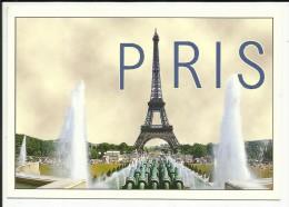 PARIS 7° , Les Jeux D'eau Du Trocadéro & La Tour Eiffel ( 1887-1889 ) , 1998 + Cachet De La TOUR EIFFEL - Tour Eiffel