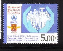 Sri Lanka 2008 Universal Declaration Of Human Rights MNH - Sri Lanka (Ceylan) (1948-...)