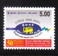 Sri Lanka 2008 Transport Board 50th Anniversary MNH - Sri Lanka (Ceylan) (1948-...)