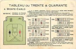 Ref C899- Monaco -monte Carlo - Casino -tableau Du Trente Et Quarante A Monte Carlo  -carte Bon Etat  - - Casino