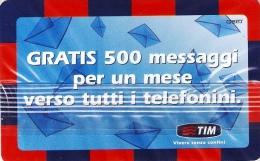 *ITALIA - TIM: 500 MESSAGGI GRATIS* - Ricarica NUOVA (MINT) In Blister - [2] Handy-, Prepaid- Und Aufladkarten