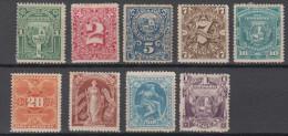 Uruguay Mi# 72-80 * + (*) Mint Numbers And Symbols 1890 - Uruguay