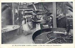 Ref C881- Café - Au Planteur De Caiffa - Paris - Une Des Salles De Torrefaction - Carte Bon Etat  - - Commerce