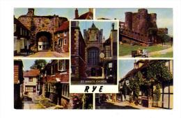 Royaume Uni: Rye, Land Gate, St. Mary's Church, Ypres Tower, Traders Passage, Mermaid Inn (14-3979) - Rye