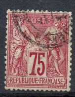 France 1876 75c  Peace And Commerce Issue #75 - 1876-1878 Sage (Type I)