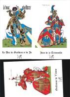 Cavaliers Du XVè Siècle En Tenue Héraldique - Règne Philippe Le Bon - Lot De 10 Images - Pub Médicament Tensionorme - Altri