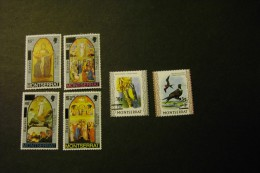 Montserrat 333.39 Easter Paintings By Orcagna 338-39 Surcharges On Birds Stamps MNH 1976 A04s - Montserrat