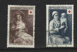 """FR YT 966 & 967 """" Croix-Rouge """" 1953 Oblitéré - Usati"""