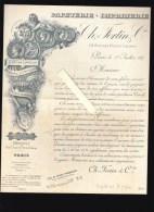 Imprimerie - Lithographie - Ch. Fortin, Paris - Circulaire Impot Sur Le Papier Juillet 1887 - Invoices & Commercial Documents