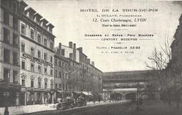 LYON - 69 - Vue De L´HOTEL DE LA TOUR DU PIN - Cours Charlemagne - VAN - - Autres