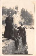 ¤¤    -   Carte-Photo   -  LOURDES   -  Deux Jeunes Gens , 1 Marin Et 1 Curé En 1928   -   ¤¤ - Chatou