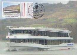 """BATEAU DE TOURISME DE LUXE *** M.S. """" Princesse Marie-Astrid"""" - Inauguration 2010 ** Timbre Personalisé LUXEMBOURG 2010 - Bateaux"""
