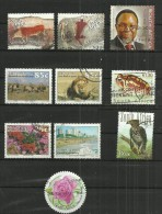 TEN AT A TIME - SOUTH AFRICA - LOT OF 10 DIFFERENT COMMEMORATIVE 4 - USED OBLITERE GESTEMPELT USADO - Oblitérés