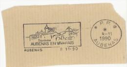 FRANCE. FRAGMENT POSTMARK AUBENAS. FLAMME - Marcofilia (sobres)
