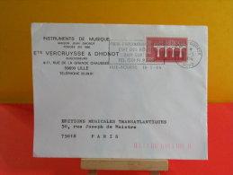 Flamme - 59 Nord, Lille, État Des Routes - 18.5.1984 Europa CEPT - Marcofilie (Brieven)
